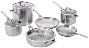 best professional cookware sets - Calphalon 10-Piece AccuCore Stainless Steel Cookware Set