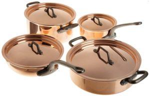 best professional cookware sets - Matfer 915901 8 Piece Bourgeat Copper Cookware Set