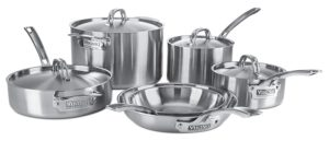best professional cookware sets - Viking Culinary Professional 5-Ply 10 Piece Stainless Steel Cookware Set