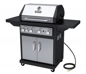 Best Gas Grills For The Money - Dyna-Glo Black & Stainless Premium Grills, 4 Burner, Natural Gas
