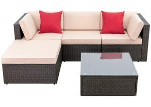 Devoko 5 Pieces Patio Furniture Set
